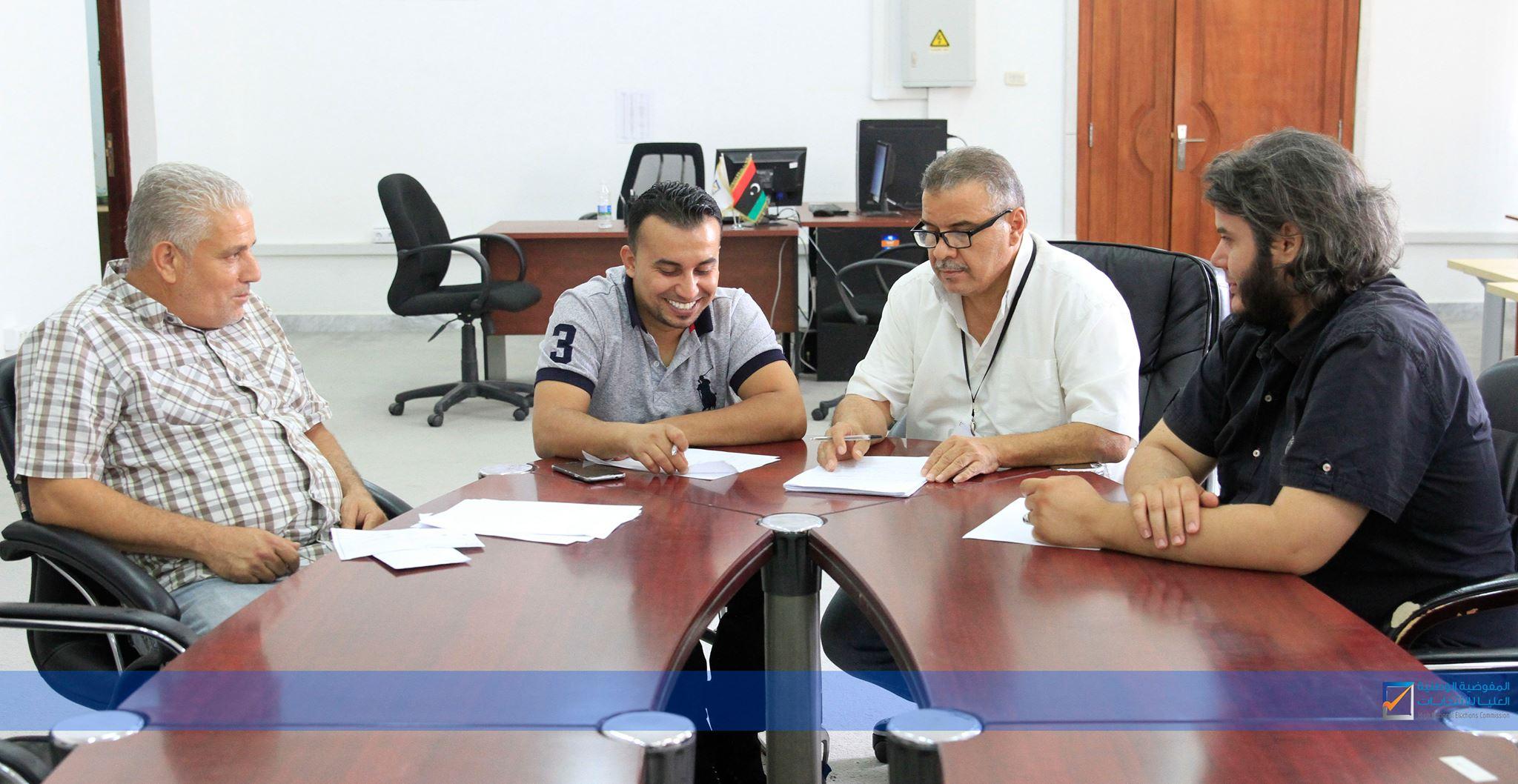 اجتماع بإدارة التوعية مع ممثلي المنتدى الليبي للأشخاص ذوي الإعاقة