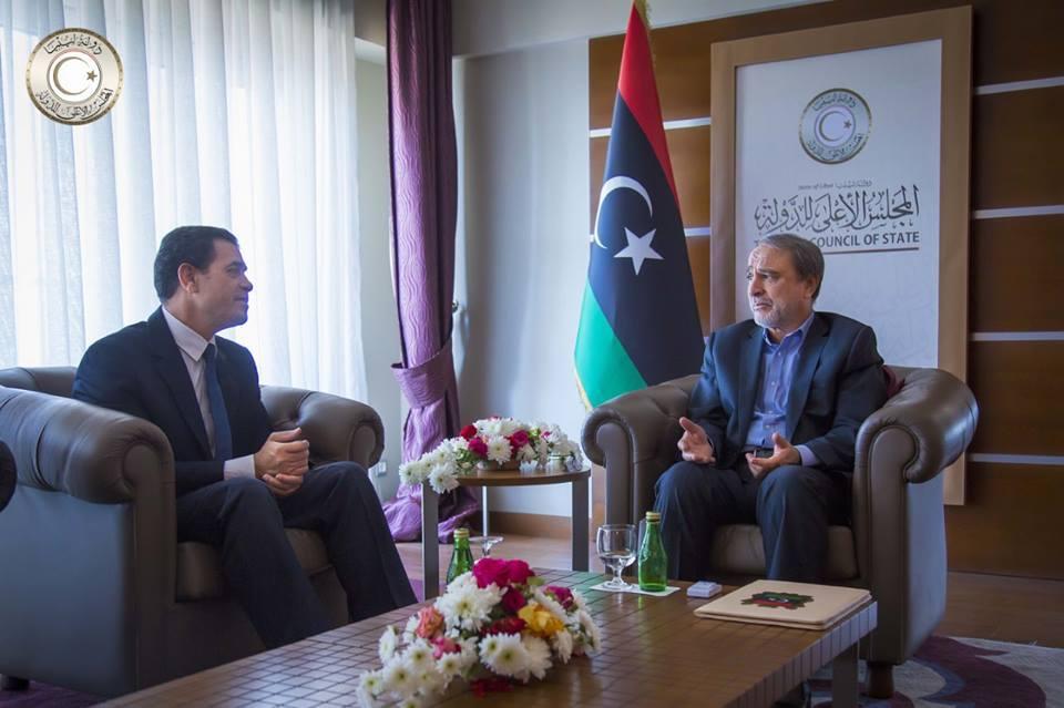 رئيس مجلس الدولة يجتمع مع رئيس المفوضية لبحث الاستعدادات للانتخابات المقبلة