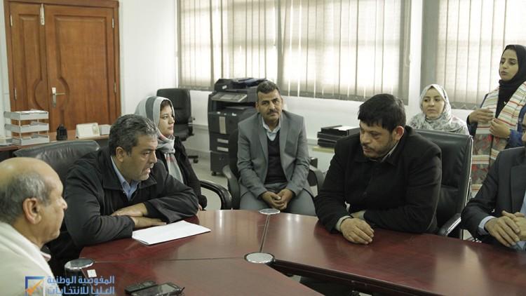 زيارة مشرفي التوعية بالمكاتب الانتخابية لمقر المفوضية