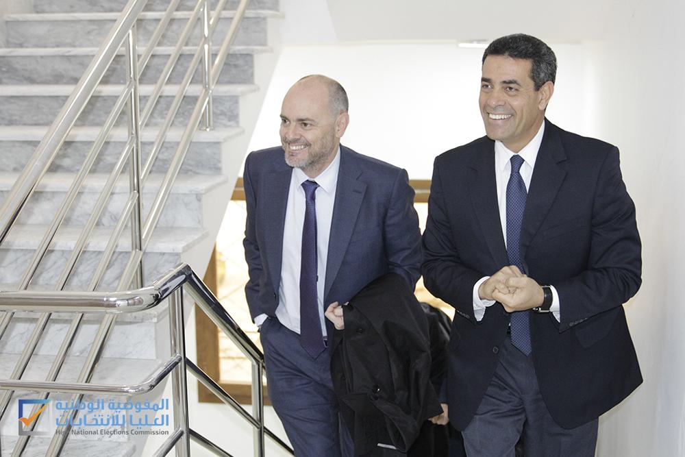 سفير الاتحاد الأوروبي يقوم بزيارة للمفوضية :