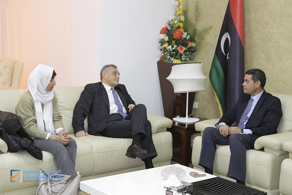 رئيسُ مجلس المفوضية يستقبلُ السفير الإيطالي في ليبيا