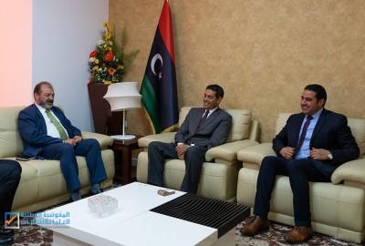 السايح يستقبل ممثل برنامج الامم المتحدة في ليبيا