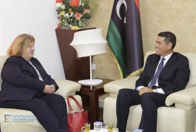 رئيس مجلس المفوضية يجتمع مع نائب المبعوث الاممي للشؤون الانسانية