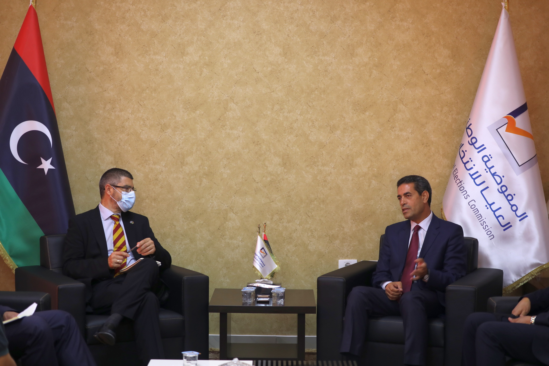 """""""دعم الانتخابات"""" محور لقاء رئيس المفوضية ببعثة الاتحاد الأوربي لدى ليبيا"""