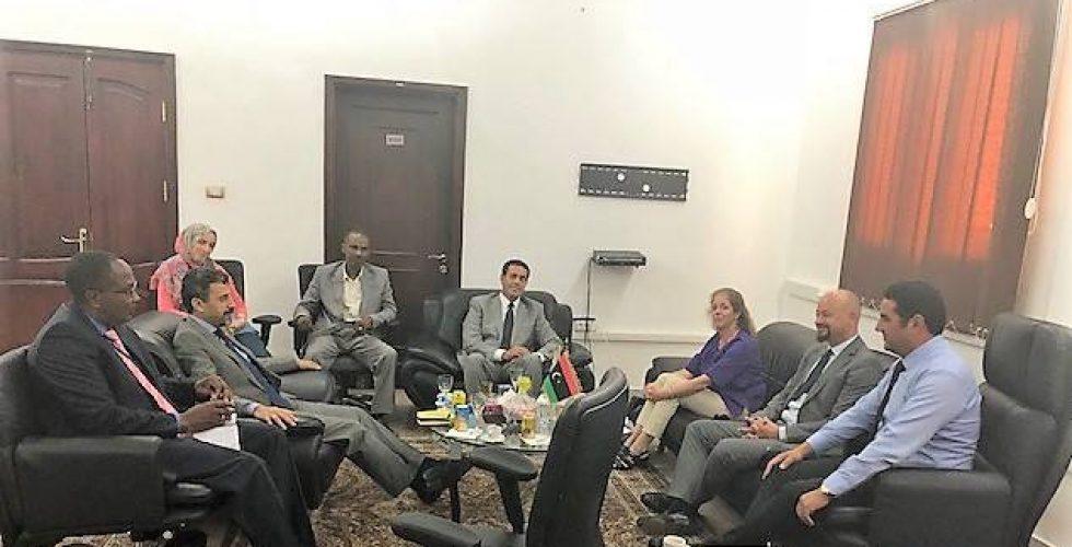 رئيس مجلس المفوضية يستقبل نائب الممثل الخاص للشؤون السياسية للبعثة الأممية